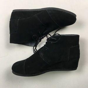 c79b3a4b77f Toms Shoes - Toms Women s Black Suede Wedges